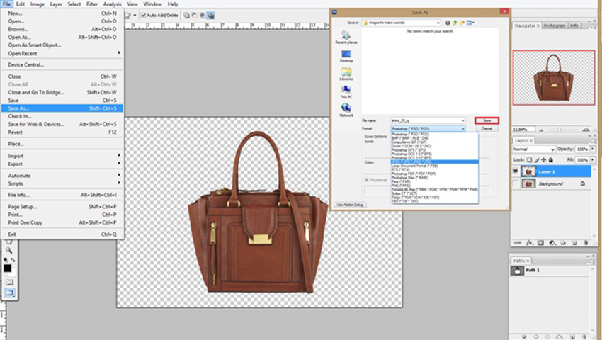 clipping path done