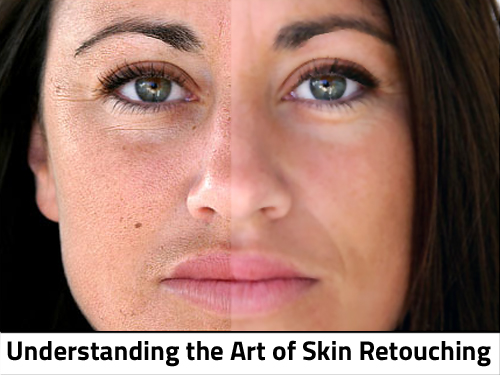 after skin retouching