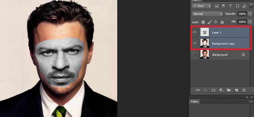 photoshop face swap