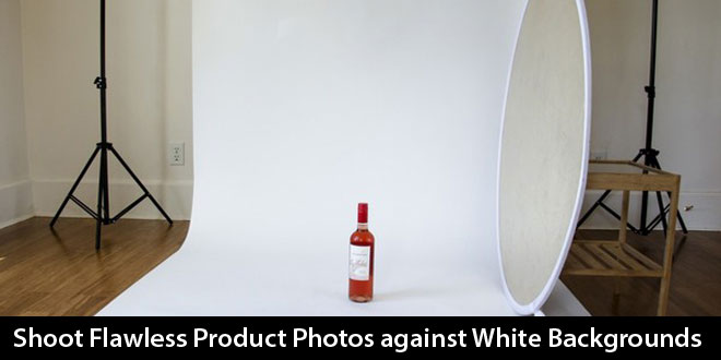 product photography with white background