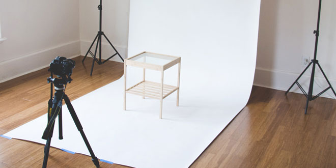 Product photography White Sheet background
