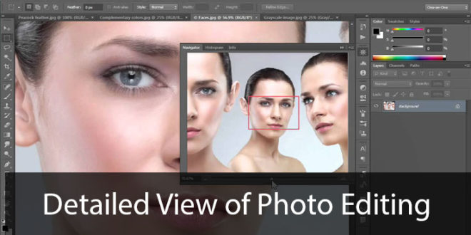 Detailed View of Photo Editing