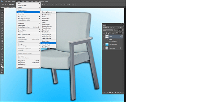 Create layer from drop shadow