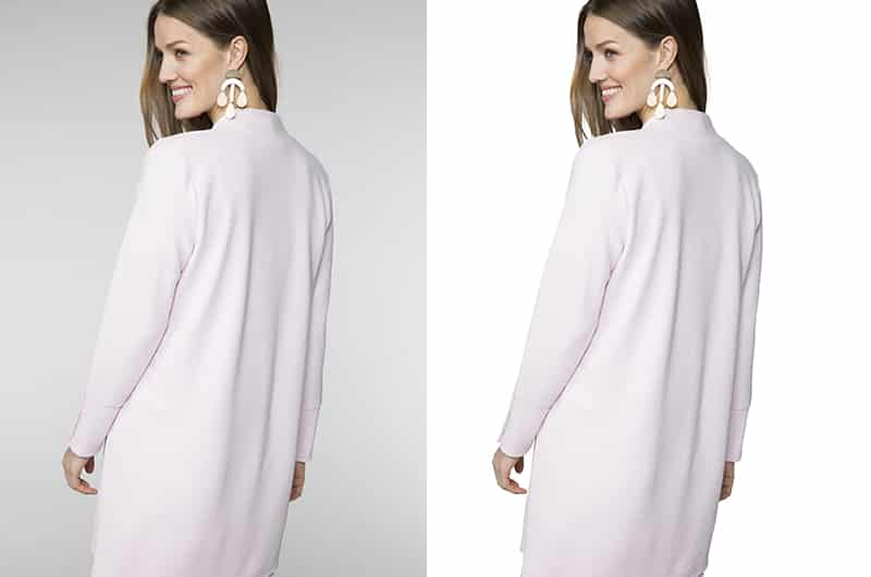 Model clipping path